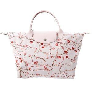 Longchamp Le Pilage Cherry Blossom Tote Bag